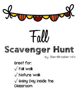 Fall Scavenger Hunt | Halloween | Pumpkins
