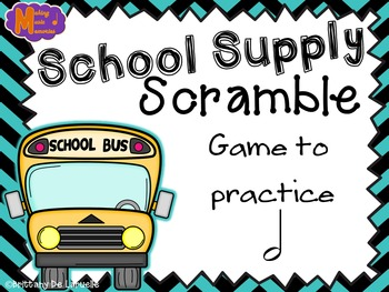 School Supply Scramble - A Game for Practicing Half Note (Ta-a)