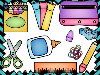 School Supply Scramble - A Game for Practicing Ti-Ta-Ti