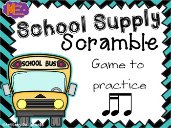 School Supply Scramble - A Game for Practicing Tiri-ti