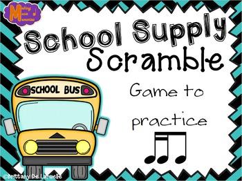 School Supply Scramble - A Game for Practicing Tiri-ti
