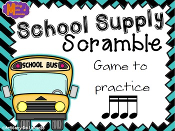 School Supply Scramble - A Game for Practicing Tiri-tiri