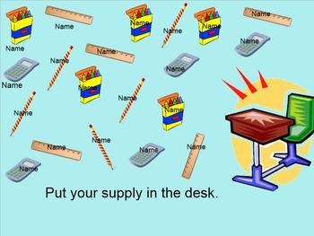 School Supply Smart Board Attendance