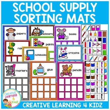 School Supply Sorting Mats & Color Sorting Mats