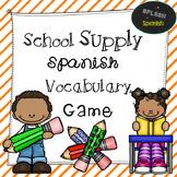 School Supply Spanish Vocabulary Game