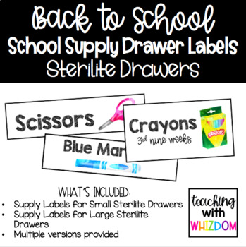School Supply Sterilite Labels