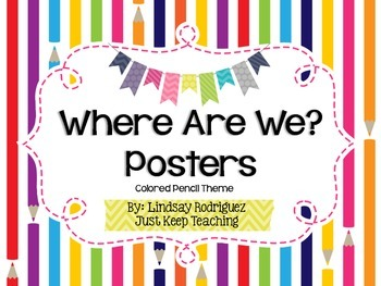 {School Supply} Where Are We? Poster- Printable, Classroom