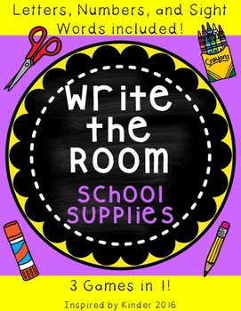 August and September Write-the-Room