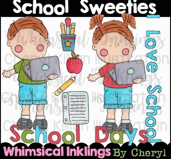 School Sweeties Clipart Collection