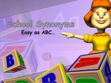 School Synonyms Interactive Power Point and Activity for Primary