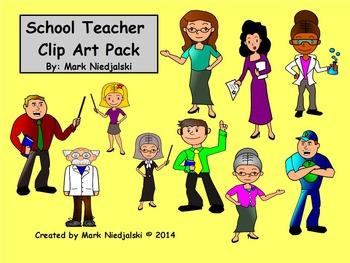 School Teacher Clip Art Pack