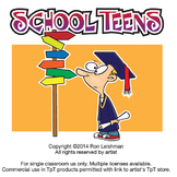 School Teens Cartoon Clipart
