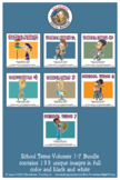 School Teens Cartoon Clipart Bundle Volumes 1-7 -Teens Clipart for ALL ages