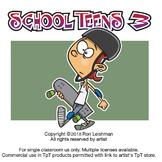 School Teens Cartoon Clipart Volume 3-Teens Clipart for ALL ages