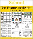 School Ten Frame Activities (1-20)