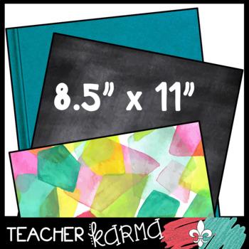 School Textures: Digital Papers / Backgrounds