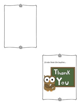 School Thank You Notes