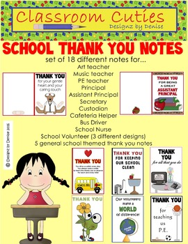 School Thank You Notes Set