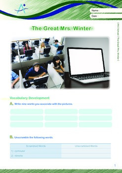 School - The Great Mrs. Winter - Grade 6
