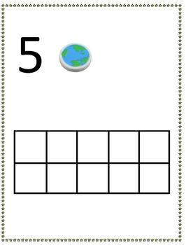 School Theme 10 frame counting 1-8