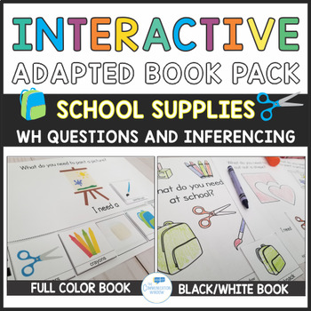 School Theme Interactive Book Pack - What Questions and School Vocab