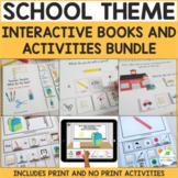 School Theme Interactive Adapted Books Money-Saving Bundle