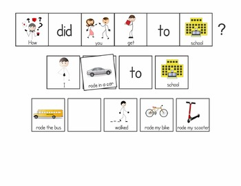 School Theme Communication Boards Freebie