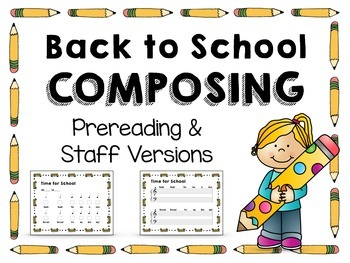 Back to School Composing Activity: Free!