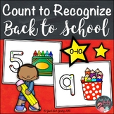 School Theme Count to Recognize Number Mats 0 to 10