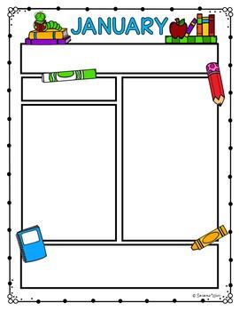 Editable Newsletter Templates - School Theme