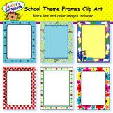 School Theme Frames Clip Art