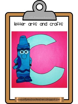 School Theme Letter Arts + Crafts and more