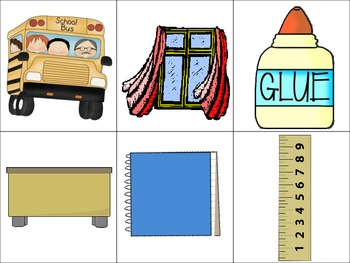 School Theme Memory Game