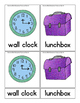 School Theme - Montessori - 3 Part Cards - English Only