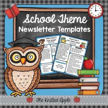 School Theme Newsletter Templates