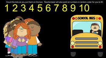 School Theme Numbers 1-10 Smartboard