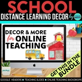 School Theme | Online Teaching Backdrop | Google Classroom