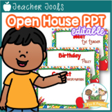 School Theme Open House ~ Back-to-School ~ PowerPoint Template {personalize it}