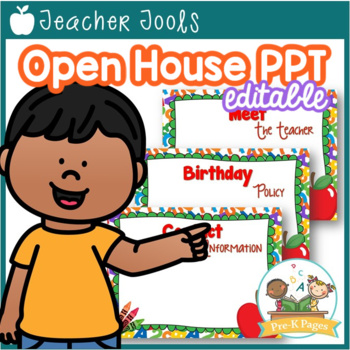 School Theme Open House ~ Back-to-School ~ PowerPoint Temp