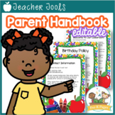 School Theme Parent Handbook Back-to-School {personalize it}