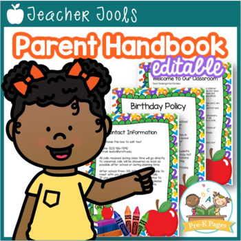 School Theme Parent Handbook Back-to-School {personalize it}