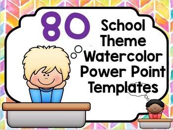 School Theme Power Point or Google Slide Blank Template for Online Teachers