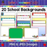 School Themed Powerpoint Backgrounds Set #1