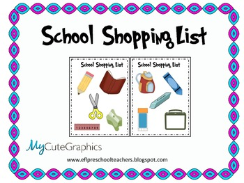 School Theme Shopping List