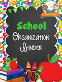 School Theme Student Organization Parent Communication Binder {personalize it}