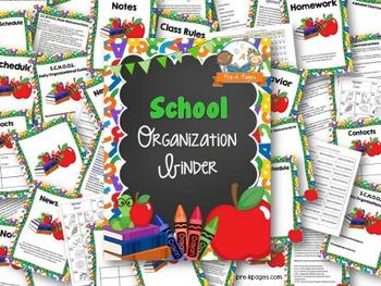 School Theme Student Organization Parent Communication Binder {personalize it}