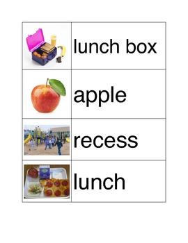 School Theme Vocabulary