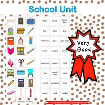 School Theme for ELL Elementary Students 1
