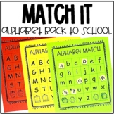 School Themed Alphabet Match for Pre-K and Kindergarten