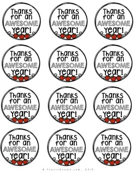 End of Year / School Appreciation Gift Tags